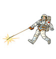 astronaut and pet star isolate on white vector image
