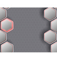 background consists of a honeycomb vector image vector image