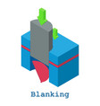 blanking metalwork icon isometric 3d style vector image vector image
