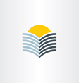 book and sun abstract icon vector image