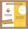 bowl company brochure template busienss template vector image vector image