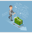 Business conceptual isometric flat style vector image vector image