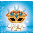carnival party mask many feathers glittering vector image