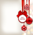 Christmas Background with Celebration Card and vector image vector image