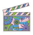 Clapperboard colorful vector image vector image