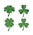 clovers set of four and three leaves in colorful vector image vector image