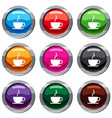 cup of hot drink set 9 collection vector image vector image