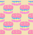 cute seamless cake pattern vector image
