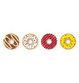 donut with cream cookie cake sweet dessert vector image vector image