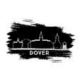 dover delaware city skyline silhouette hand drawn vector image vector image