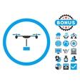 Drone Shipment Flat Icon with Bonus vector image vector image