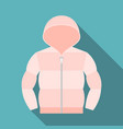 duvet coat vector image