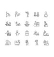 educator line icons signs set outline vector image vector image