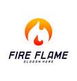 fire flame logo design template icon symbol vector image