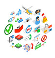 firm icons set isometric style vector image vector image