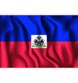 Flag of Haiti Rectangular Shaped vector image vector image