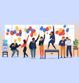 flat business people corporate party dance vector image vector image