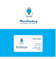 flat logo and visiting card template busienss vector image vector image