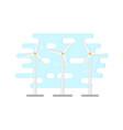 flat windmill wind turbine vector image vector image