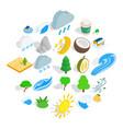 gardening icons set isometric style vector image vector image