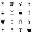 glass drink icon set vector image vector image