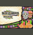 greeting card for dia de los muertos vector image vector image