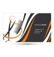 hairdressing salon business card vector image vector image
