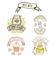 hand-drawn badges vector image