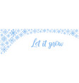 hand drawn horizontal banner with blue vector image vector image