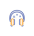 headphones line icon music sign vector image