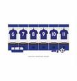 japan football or soccer team dressing room vector image vector image