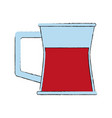 juice glass cup vector image