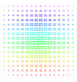 license icon halftone spectral effect vector image vector image