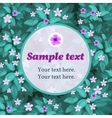 lilac flower card with frame for text vector image vector image
