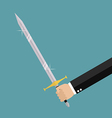 Man holding sword vector image vector image