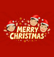 merry christmas greeting card holiday concept vector image