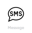 message social icon editable line vector image vector image