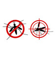 mosquito warning signs informational red vector image