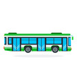 municipal bus flat isolated vector image