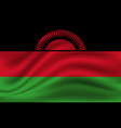 national flag malawi realistic vector image vector image