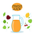 orange multivitamin juice isolated icons vector image