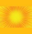 orange rays pop art comic background vector image vector image