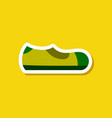 paper sticker fashion footwear man shoe vector image