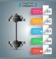 realistic barbell - business infographic vector image