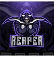 reaper esport mascot logo design vector image vector image