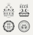 retro or old beer badges or signs vector image vector image