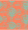 seamless ikat ice cream pattern vector image