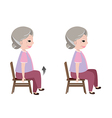 Seated March posture exercise vector image vector image