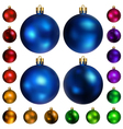 set colored christmas balls vector image