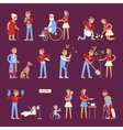 Set of volunteers characters vector image vector image